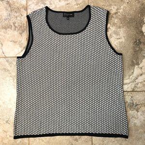 🆕 Jones New York Contrast Pattern Sweater Vest